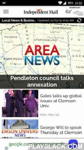 Anderson Independent Mail  Android App - playslack.com ,  Experience the Anderson Independent Mail – reimagined for the Android. Enriched by innovative technology and interactive elements, the Anderson Independent Mail brings you the local news coverage you have come to expect and the reading experience you have been looking for. With content created specifically for the Android platform, expect the in-depth analysis and reporting that you trust from your local newspaper, combined with the…