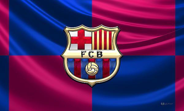 FC Barcelona - 3D Badge over Flag fine art print by Serge Averbukh via FineArt America....
