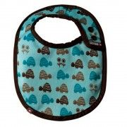 Babero reversible bebé Close parents Turtle blue