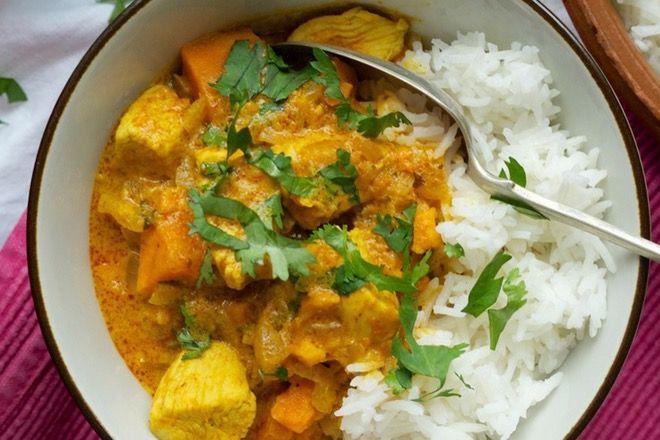 Mild toddler chicken curry
