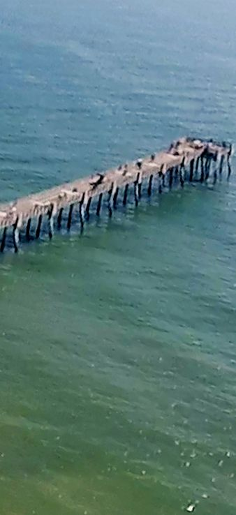 The Ponte Vedra Beach Florida Fishing Pier from high above! ----------------- #florida #tourism #fun #thrills #jacksonville #flights #beach