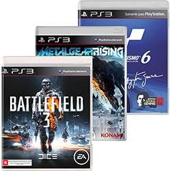 [AMERICANAS] PS3 Battlefield 3 + Gran Turismo 6 + Metal Gear Rising - R$ 59,99 no carrinho