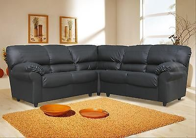 Candy Faux Leather Corner Sofa In Black Brown Or Cream Maymun Co Uk