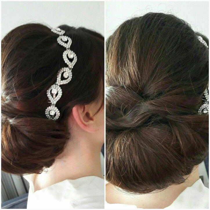 www.brideshair.co.uk Classis elegant chignon for a bride