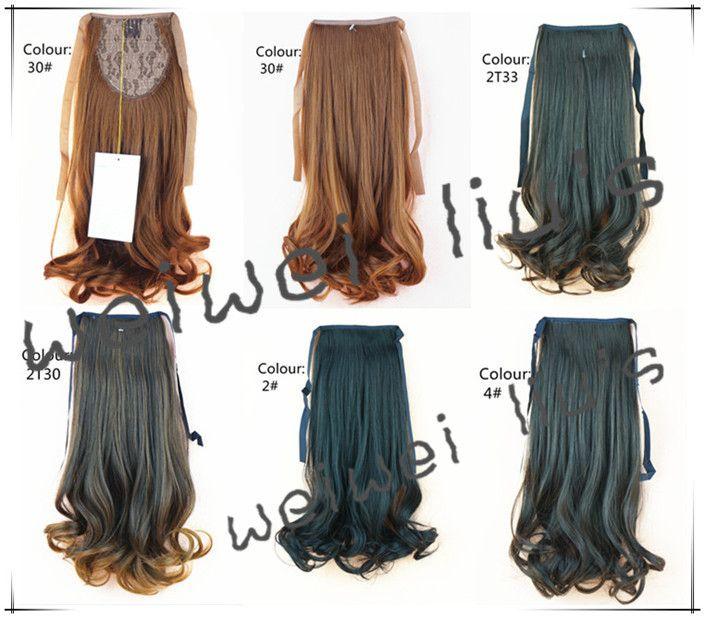 Хвост фигурные ленты хвост парик хвост Прическа Шиньоны синтетический симпатичные kawaii школьница Расширение 18 45 см