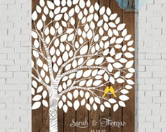 Rustic Wedding Guest Book Rustic Guest Book by MarshmallowInkLLC