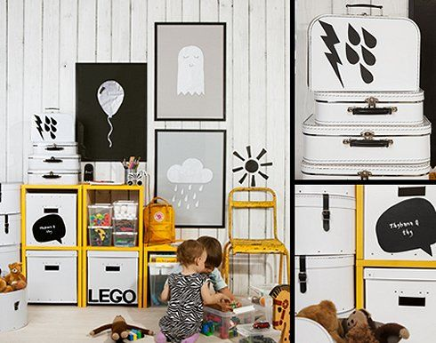 Monochrome and a dash of yellow | Scandinavian design for kids and families