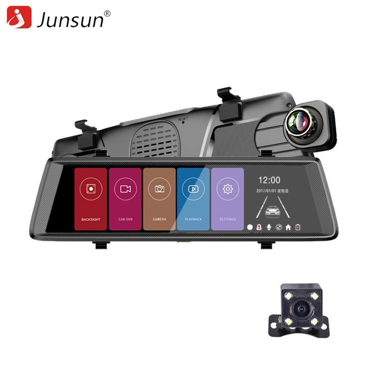 Junsun A900C 10 Inch Super Big Screen Two Cameras Rear View Mirror //Price: $110.71 & FREE Shipping //     #dashcam