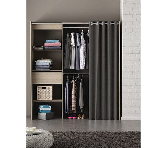 armoire dressing extensible imitation ch ne bross et. Black Bedroom Furniture Sets. Home Design Ideas