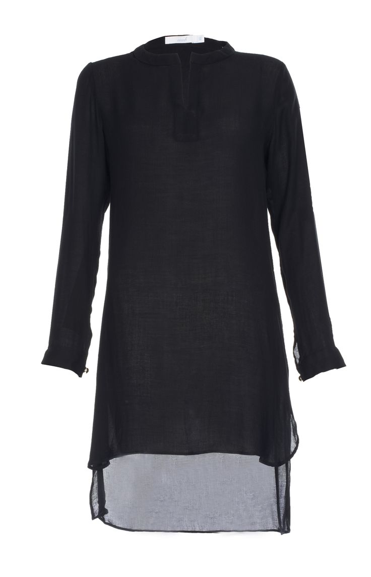 Aab UK Cotton Crepe Top Black : Standard view