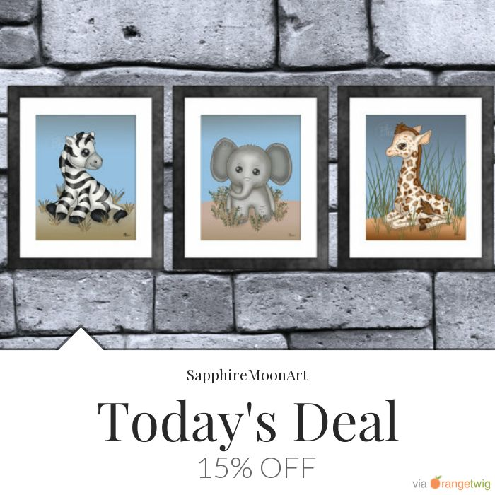 Today Only! 15% OFF this item.  Follow us on Pinterest to be the first to see our exciting Daily Deals. Today's Product: Safari Baby Animal Print Set of 3 Buy now: https://small.bz/AAgBZLm #etsy #etsyseller #etsyshop #etsylove #etsyfinds #etsygifts #musthave #loveit #instacool #shop #shopping #onlineshopping #instashop #instagood #instafollow #photooftheday #picoftheday #love #OTstores #smallbiz #sale #dailydeal #dealoftheday #todayonly #instadaily #instasale