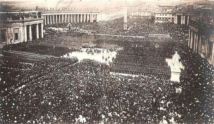 Papa Pio IX benedice le sue truppe, 25 aprile 1870   #TuscanyAgriturismoGiratola