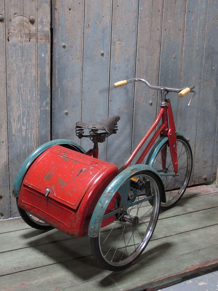 Around 1954 .  1940's Child's Tricycle. Nearest image I could find. Well the seat looks correct. The colour of the frame is also correct. The handlebars also look correct.