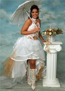 Horrible wedding dresses bridesmaids examples hideousness of that foot