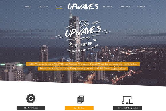 Check out Upwaves - Website PSD Template by Simple Shop on Creative Market