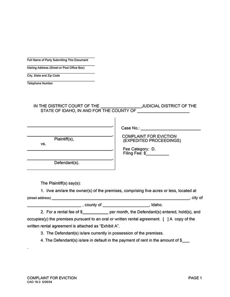 3 Day Notice of Eviction images - eviction form Legal Documents - sample advance directive form
