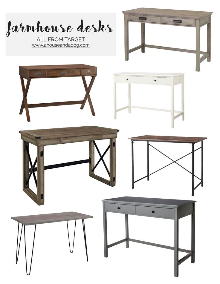 Farmhouse Desks from Target                                                                                                                                                                                 More
