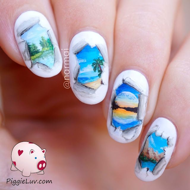 Piggieluv 3d Pull The Curtain Nail Art: 44 Best Images About Nails By Piggy Love On Pinterest
