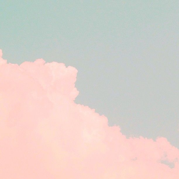 pink clouds on a blue background... so fluffy and peaceful