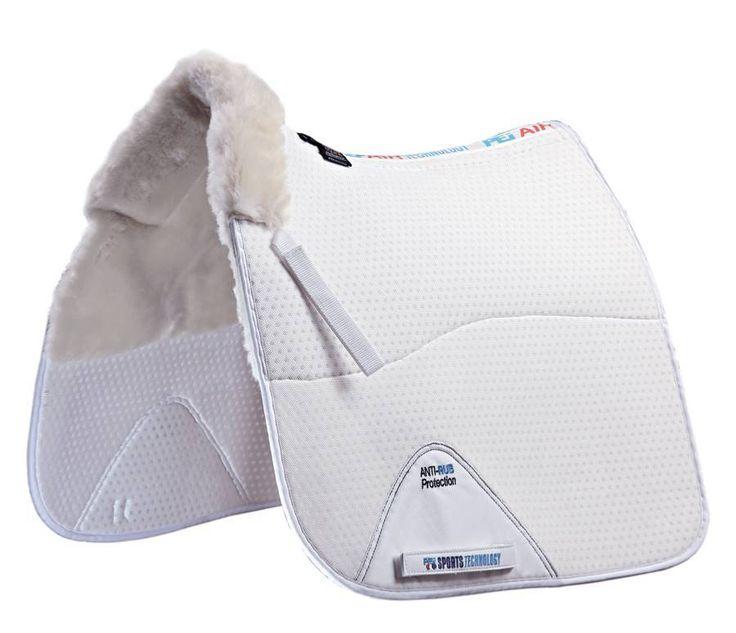 English Tack Shop - Premier Equine Air-Technology Shockproof Merino Wool Half Lined Dressage Pad, $134.95 (http://www.englishtackshop.com/wool-saddle-pads/)