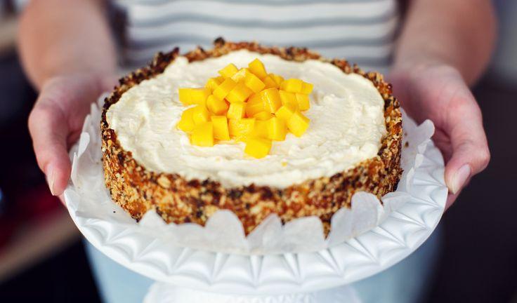 Mango cheesecake, gezoet met (gedroogd) fruit  recept | Dr. Oetker