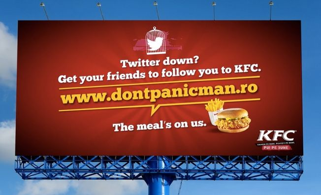 KFC Offers Free Meals to Victims of Social Network Outages | Adweek - [Eat if you like, Go when you have to hospitalize?]