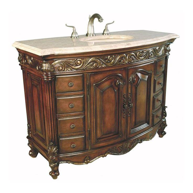 Shop Ambella Home Collection Ambella Home 06227 110 226 Provincial Medium  Sink Chest At. Antique Bathroom VanitiesAntique ...