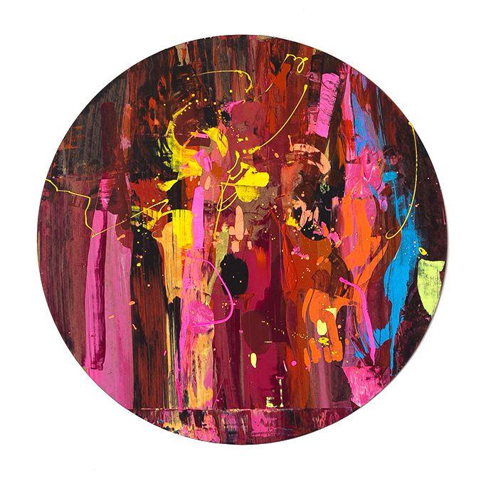 Anatoly Akue, Untitled, acrilic on fiberboard, d=200, 2015 #современное #искусство #дизайн #интерьер #design #decor #interior #графика #живопись #contemporaryart #design #streetart #стритарт #abstraction #абстракция