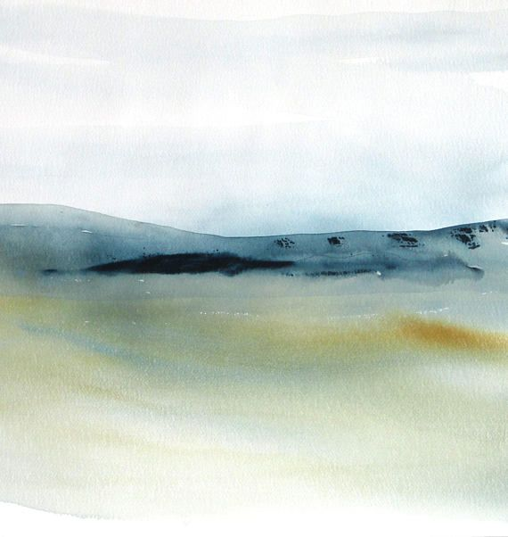 Large Original Modern Landscape Watercolor painting, Contemporary Landscape Watercolor, Large Modern Abstract Watercolor.