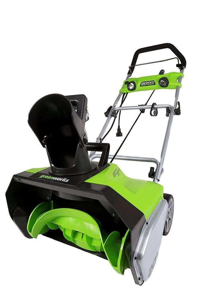Greenworks 13-Amp 20-in Single-Stage Corded Electric Snow Blower w/ LED Lights #Greenworks
