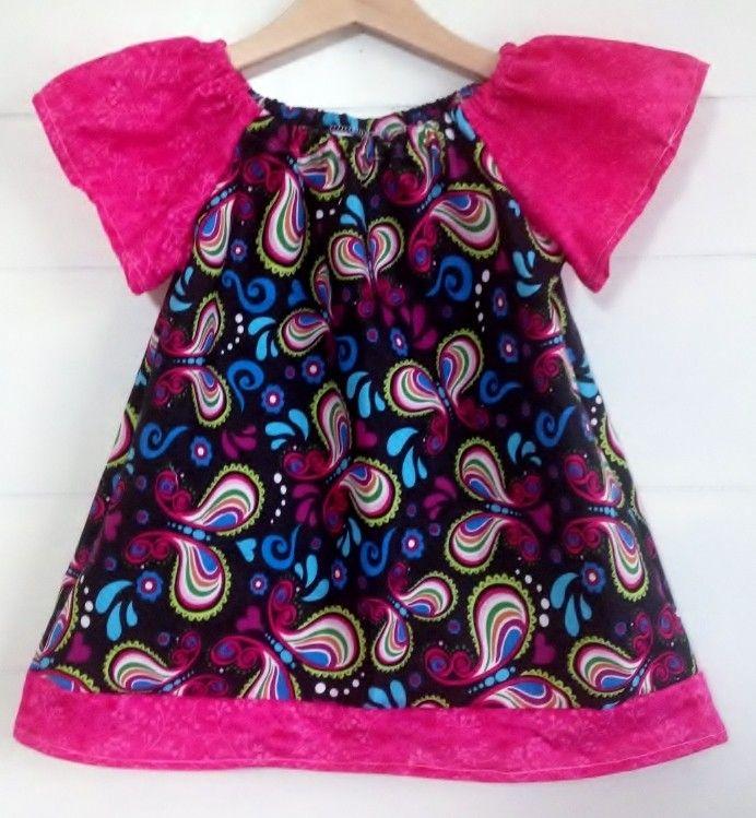 Sandlwood Peasant Dress - Black Rainbow - Babies & Kids