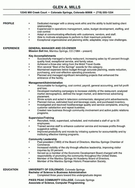 R D Manager 4-Resume Examples Resume examples, Manager resume