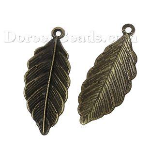Worldwide Free Shipping Zinc Metal Alloy Pendants Leaf Antique Bronze 31mm(1 2/8) x 13mm( 4/8), 50 PCs [B66445] at incredible low price– DoreenBeads.com