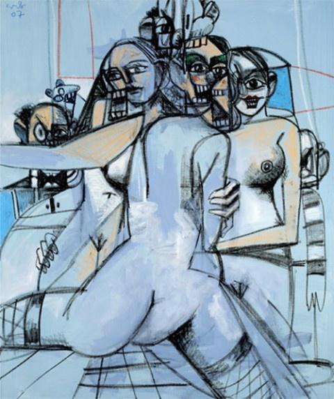 George Condo – Le Sourire de Condo @ Galerie Catherine Houard (Paris)