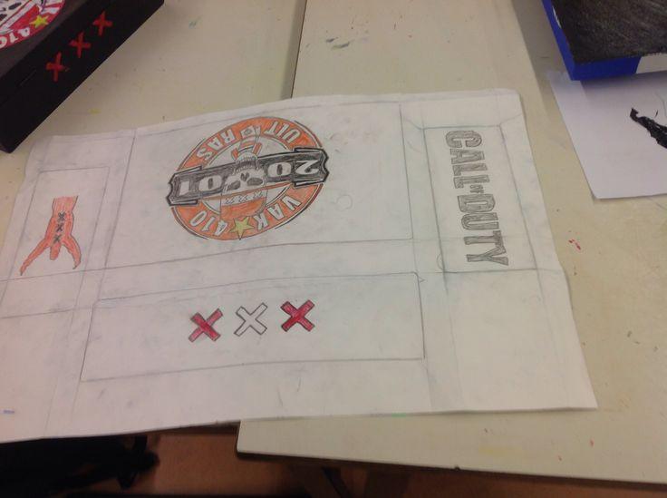 Teken doos ontwerp
