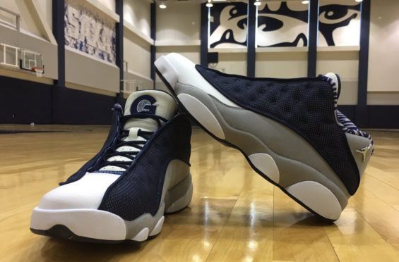 georgetown exclusive air jordan 13 low pe for march madness