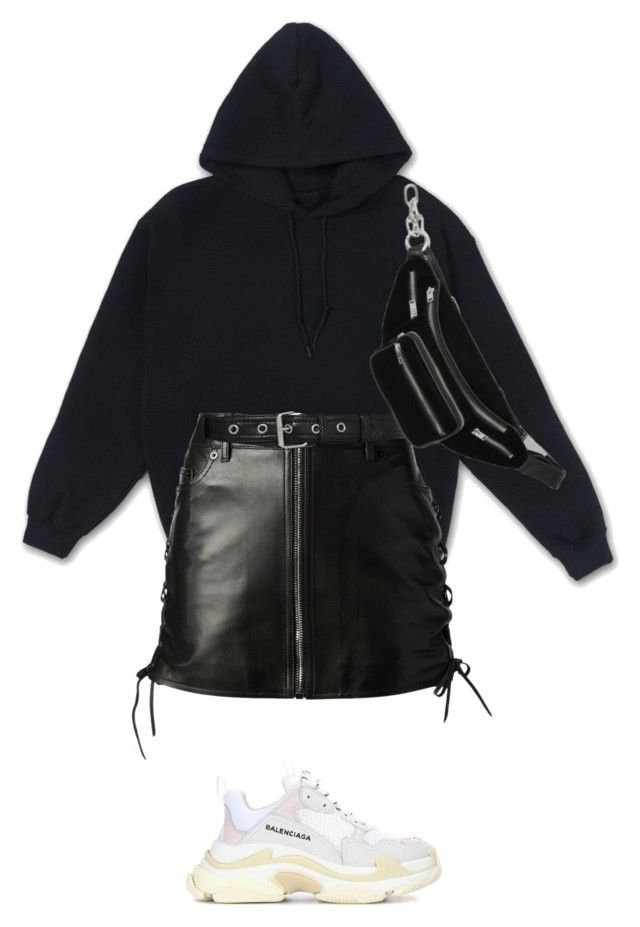 """""""47 days"""" by les-garconnes ❤ liked on Polyvore featuring Yves Saint Laurent, Alexander Wang and Balenciaga"""