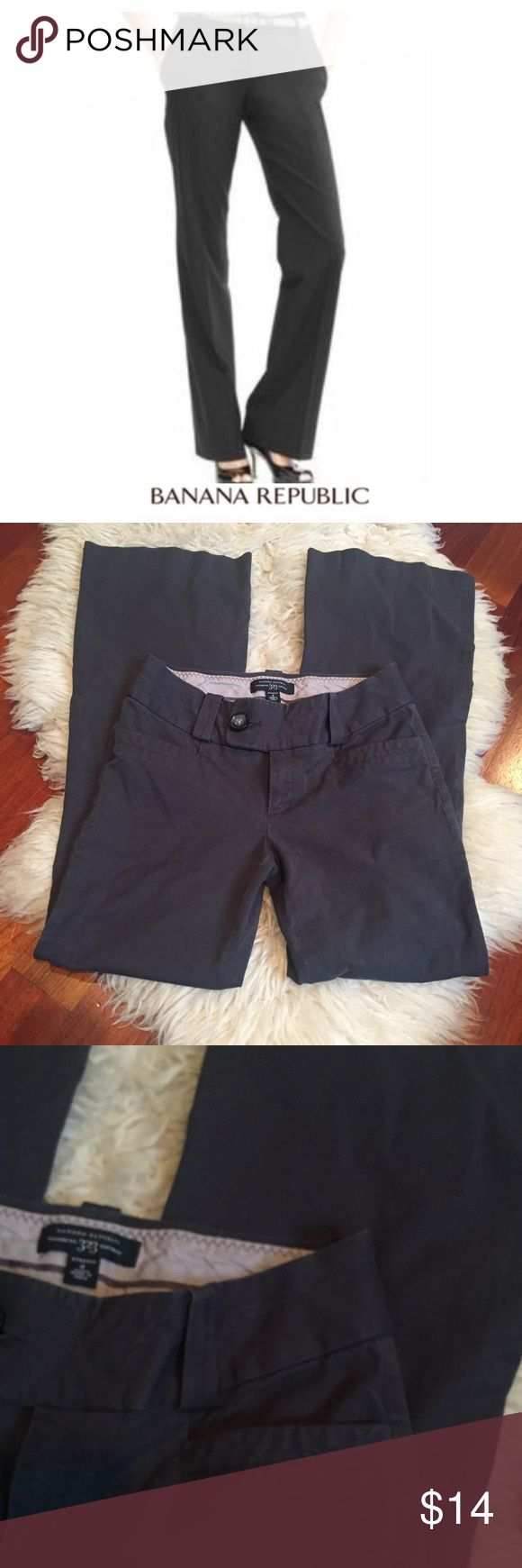 Banana Republic Dark Gray 323 Martin Fit Trousers Banana Republic Dark Gray 323 Martin Fit Trousers. Gently worn. Great condition. 8.5 inch rise. 31 inch inseam. Feel free to make an offer or bundle & save. Banana Republic Pants Trousers