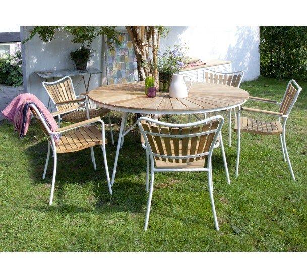 Cinas Hard & Ellen Havemøbelsæt  - Sæt med bord & 5 stole