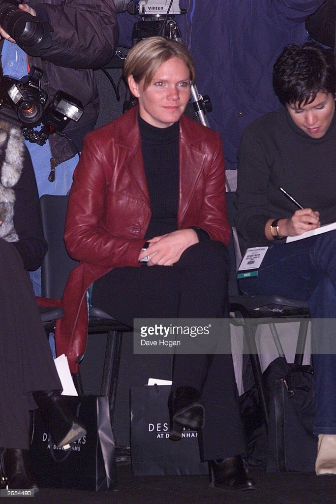 British pop star Victoria Beckham's sister attends her sister's fahion show for Maria Grachvogel on February 16, 2000 in London.