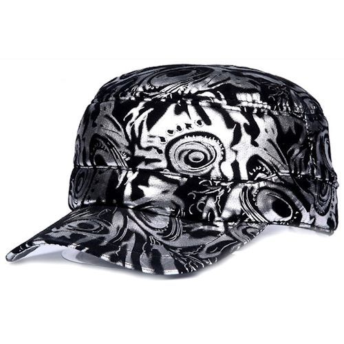 fitted baseball caps for big heads large dogs black silver leather punk rock hip hop hippie hipster cap wholesale los angeles