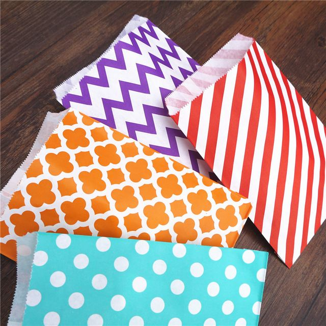 Paper bright packing bags 10x15 (25 pieces in a set)   Бумажные яркие фасовочные пакеты 10х15 (25 штук в наборе)