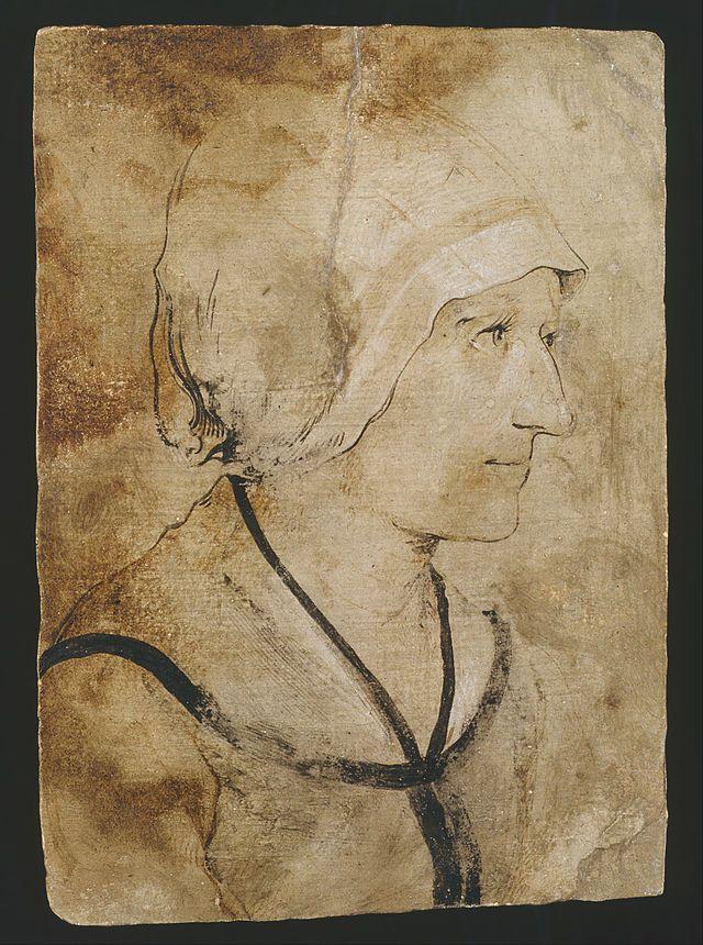 Гольбейн - Портрет жены неизвестного каменщика.