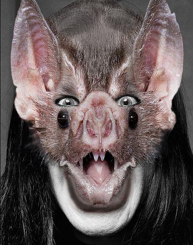 Ozzy Osbourne scary funny bat mask photoshop