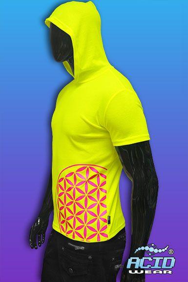 http://www.acidwear.ru/index.php?id=7991 Модная молодежная футболка ACIDWEAR лимонного цвета с капюшоном. Футболка с дизайном «FLOWER OF LIFE».  Состав: 92% полиэстер, 8% лайкра.