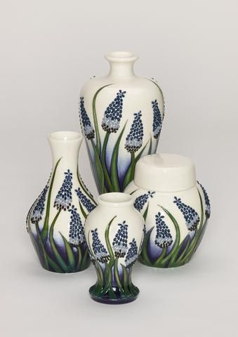 Muscari 769/4 Ginger Jar - Elise Adam for Moorcroft Pottery - Treeby & Bolton