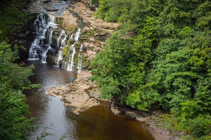 Corra Linn waterfall at the Falls of Clyde