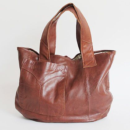 переделал США - мы перепрофилировали винтажные кожаные куртки в новый-из рода сумок