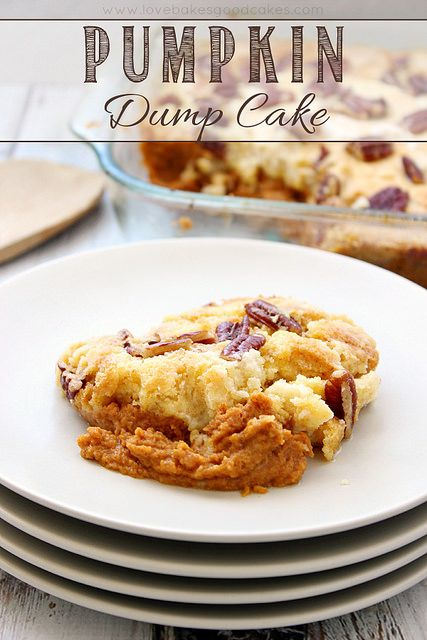 Full of Fall flavor, this Pumpkin Dump Cake is so easy and delicious! #pumpkin #cake #fallrecipes by lovebakesgoodcakes, via Flickr