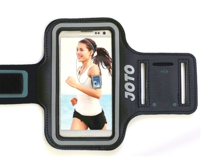 """JOTO iPhone 6 4.7 Armband - Sport Armband Case for iPhone and Samsung Galaxy (iPhone 6 4.7, iPhone 5S 5C 5 4S 4, Galaxy S5 S4 S3), with Key Holder Slot, Fully Adjustable, Easy Earphone Connection, best for Gym, Sports Fitness, Running , Exercise , Workout - for Man and Woman (Black). Fits comfortably with iPhone 6 4.7"""", 5S, 5C, 5, 4, 4s, Samsung S5, S4, S3 and other electronic devices with similar dimensions. NOT fit iPhone 6 Plus 5.5 inch. Comfortable and soft touch; Full screen…"""